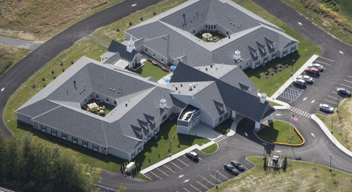 Aerial Shot at Peregrine Senior Living at Colonie