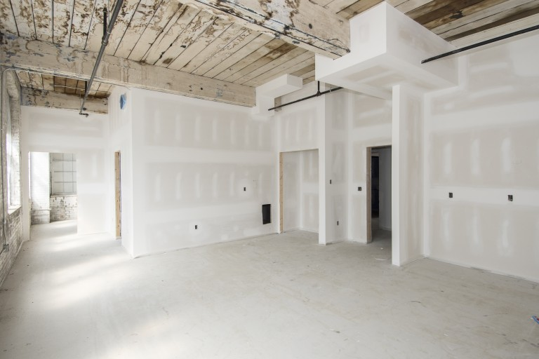 Amity Street Apartments-Drywall, existing ceiling