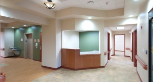 Elevator Hallway and Reception Desk